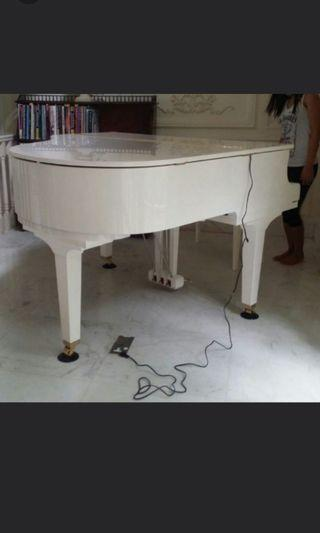 Yamaha white grand piano GB1K PWH with Bench