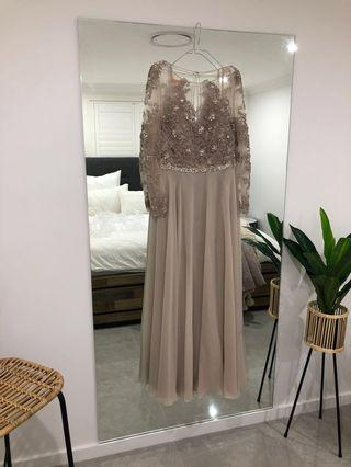 Beaded Terani Couture Evening Nude
