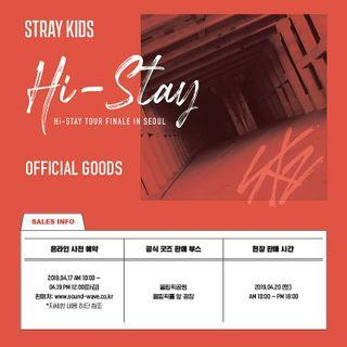[Pre-Order] Stray Kids HI-STAY TOUR FINALE IN SEOUL Official Goods