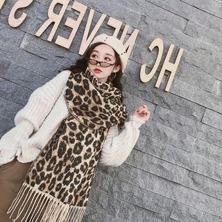 🚚 現貨賠本💔豹紋厚圍巾披肩