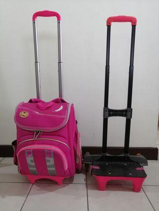 School bag with spare trolley