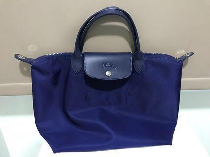 Longchamp Le Pilage Neo (Medium) - Navy Blue