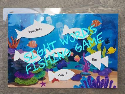 🚚 Sight Words Fishing Cards (Learning Resource)