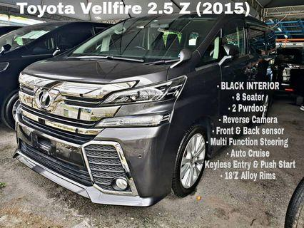 Toyota Vellfire 2.5 ZG UNREG 2015