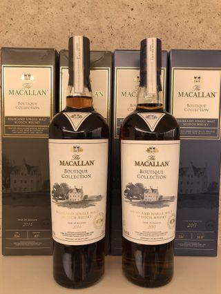 Brand New Macallan Boutique Collection 2016 and 2017