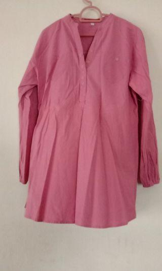 Blouse Pink With wrist grip