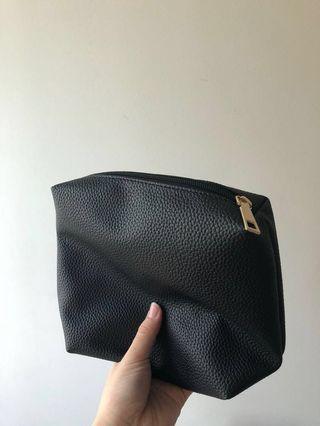 Black make up bag