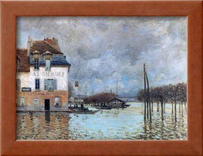 Ready to hang wall art Alfred Sisley- Flood at Port Marly 1876