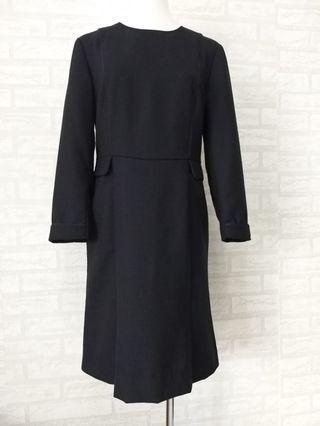二手9成新。高級訂製服長袖連身洋裝