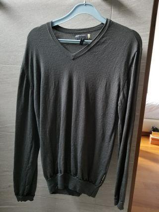 Porsche design x adidas wool v neck sweater small