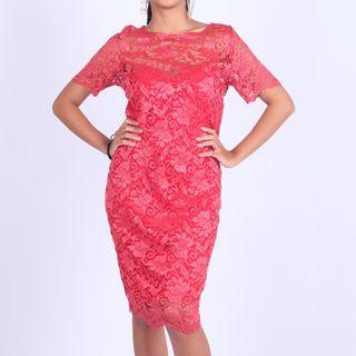 PAULINA KATARINA Lace midi Dress