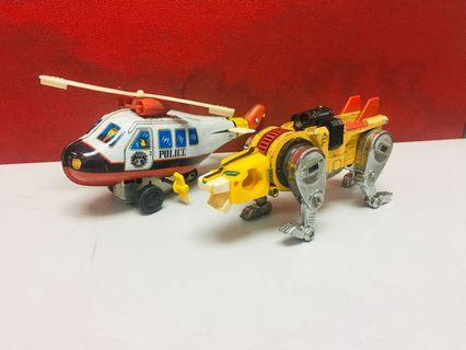 Helicopter tin toy& transformers