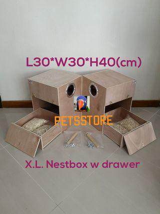 X.L. nest box w drawer