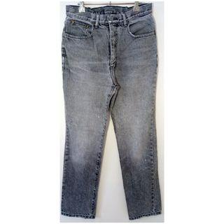 Calvin Klein CK Grey High Waisted Vintage Mom Jeans Zip Fly
