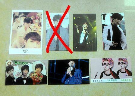 $3 EXO 雙面飯製卡 fancard