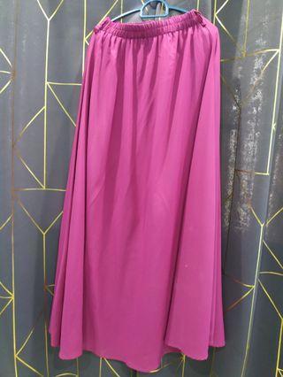 Chiffon Flowy Skirt Pink