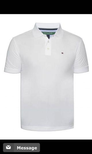 🚚 Tommy Hilfiger 高品質白polo衫