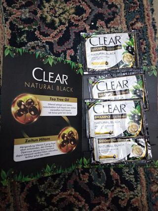 Take all 8pcs clear shampo anti ketombe natural black