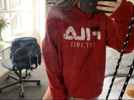 fila red hoodie