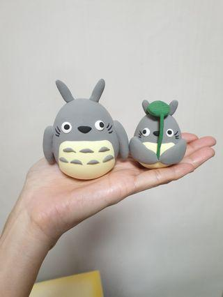 Customise Totoro cake topper made of air dry clay