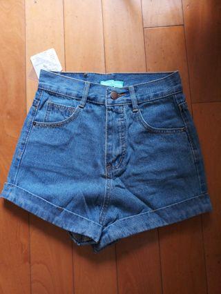 全新高腰牛仔短褲