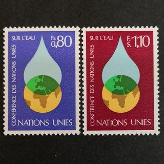 UN Geneva Office 1977. UN Water conference complete stamp set