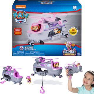 BNIB: PAW Patrol Skye's Ultimate Rescue Helicopter with Moving Propellers & Hook