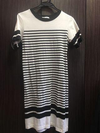 🚚 White stripe short dress