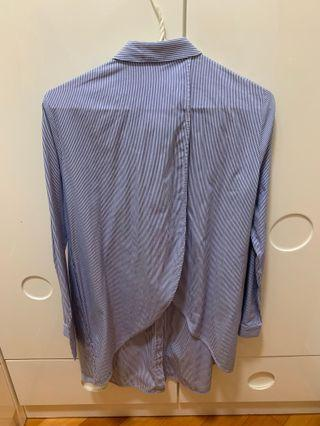 Cos striped shirt with slit back