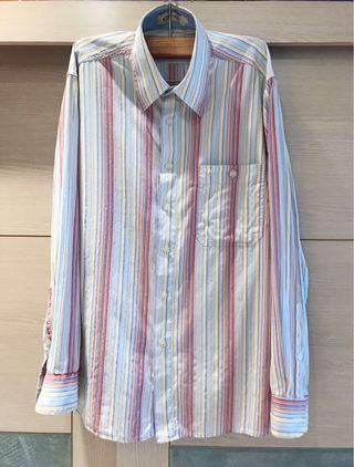 🚚 專櫃品牌 意大利 GOORIK 直條紋長袖襯衫(男)