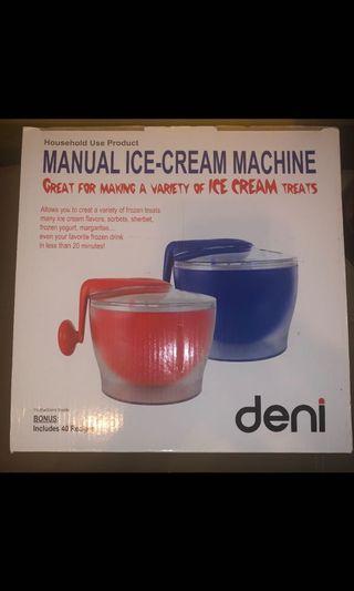 全新美國deni自制雪糕機,未開,半價售,馬鞍山自取brand new USA Deni ice cream maker, half price selling, selfpick at Ma on shan