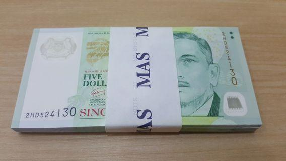 $5 notes (1 stack)