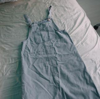 [NEW] Long Denim Overall (dress)