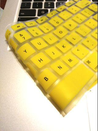 Yellow Apple keyboard cover