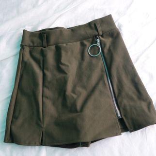 [BRAND NEW] Dark Khaki Skort/Skirt