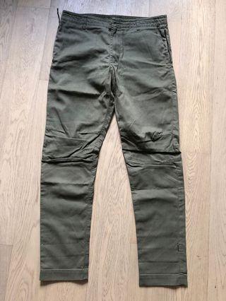Maharishi 墨綠色長褲M