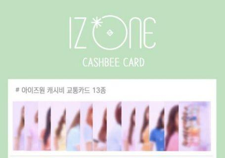 [PO/SHARING] Iz*one / Izone Cashbee Transport Photocard Set