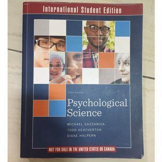 【心理學教科書】Psychological Science, 5th International Student Edition 5thE byMichael Gazzaniga,  Todd Heatherton,  Diane Halpern