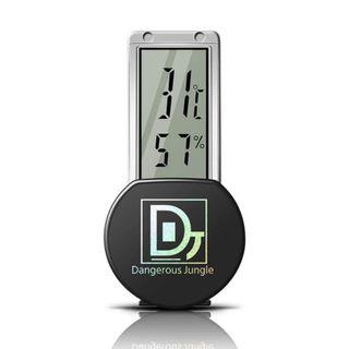 🚚 Digital Dual Thermometer Humidity Gauge with Suction Cup, Indoor Hygrometer for Reptile Pet Crawler Rainforest Rearing Breeding Glass Tank Box, Celsius Temperature Meter Reading, Wide LCD Electronic Display