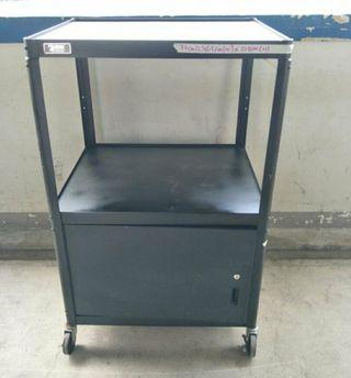 2 Tier Metal Trolley with Cabinet for sale $@60 each