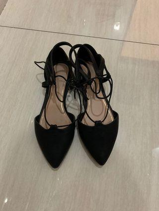 Call It Spring Black Flat Shoes