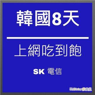 韓國 SK 8天/6GB 上網吃到飽 上網卡 網路卡 網路