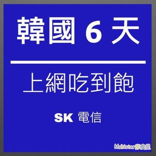 韓國 SK 6天/6GB 上網吃到飽 上網卡 網路卡 網路