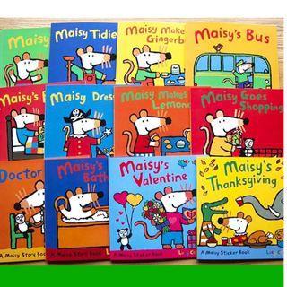 A Maisy Story & Sticker Book - 12 Books Collection (10 story books + 2 sticker books)