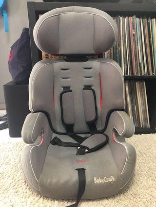 Car Booster Seat + Munckin Car seat Protector