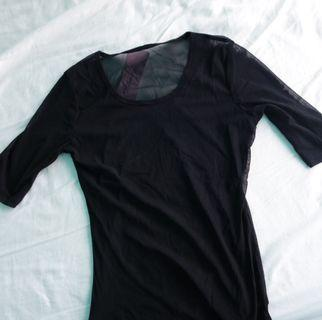 [NEW] Sheer Black top
