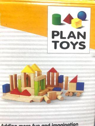 High quality wooden blocks (50 pieces) suit age 2years+