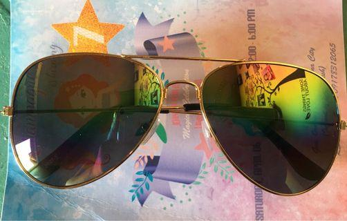 Classic Aviator Sunglass Mirrored Rainbow