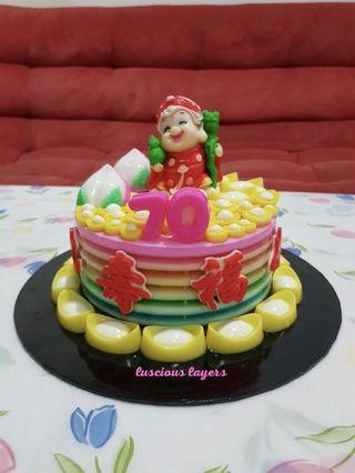 Longevity jelly cake