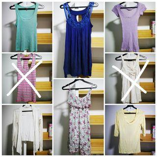 $2.80 mailed each. Tops, cardigan, dresses